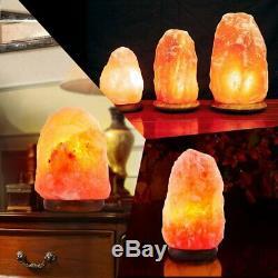 Lot 10 Himalayan Sel Lampe Cristal Naturel Rock Gradateur De Nuit Veilleuse Us Oy