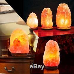 Lot 10 Lampe Sel De L'himalaya Cristal Naturel Rock Gradateur Nuit Lumière Us Hs