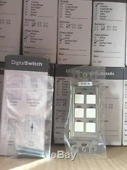 Lot De 15 Commandes D'éclairage LC & D Commutateur D'éclairage Numérique À 6 Boutons Chelsea