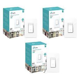 Lot De 3 Interrupteurs Variateur De Lumière Wi-fi Kasa Smart Hs220 Hs-520 Tp-link # Hs220 3