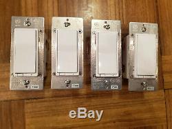Lot De 4 Ge Jasco Zw3005 Z-wave In-wall Light Gradateur Blanc Teste