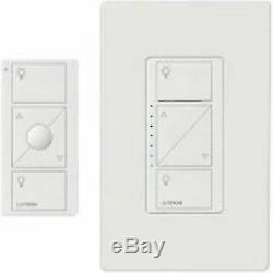 Lot De 4. Lutron P-pkg1w-wh-r Interrupteur Variateur D'éclairage Intelligent 120v Et Kit Télécommande