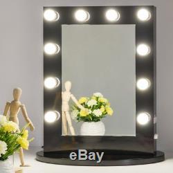 Lumineux Vanité Miroir Beauté Tabletop Gradateur Hollywood Élégant Noir Nouveau