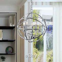 Lustre En Chrome Chrome Glam Orb, Montage Sur Plafond Avec Interrupteur Variateur De Design