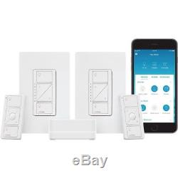 Lutron Caseta Dimmer Switch - Kit De Démarrage Pour Éclairage Intelligent Sans Fil (2 Unités)