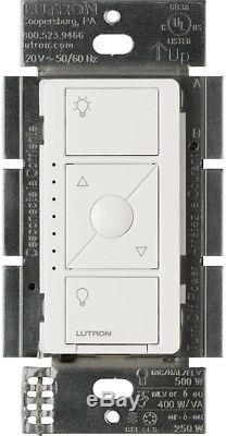 Lutron Caseta Éclairage Électrique Sans Fil Gradateur Smart White Finish Nouveau