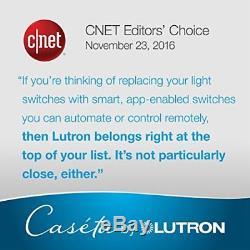 Lutron Caseta Éclairage Intelligent Sans Fil Avec Gradateur (2 Éléments)
