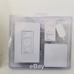 Lutron Caseta - Gradateur D'éclairage Intelligent Sans Fil (2 Unités), Starter Kit