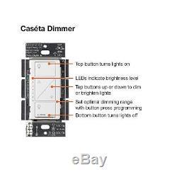Lutron Caseta - Kit De Démarrage Pour Commutateur De Gradateur Intelligent À 2 Gradateurs, P-bdg-pkg