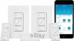 Lutron Caseta Smart Start Kit, Gradateur (2 Count) Avec Smart Pont Lumière