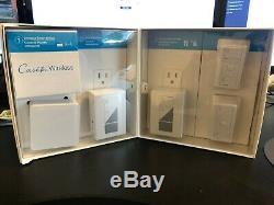 Lutron Caseta Smart Wireless Kit D'éclairage Avec Plug-in Et Pico Gradateurs Distants Nouveau