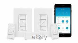Lutron Caseta Smart Wireless Lumineux Switch (2 Count) Nouveau Kit De Démarrage