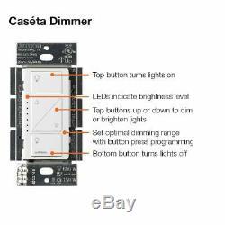 Lutron Caseta Wireless Lighting - Commutateur De Commutateur Variateur De Lumière Unipolaire / 3 Voies
