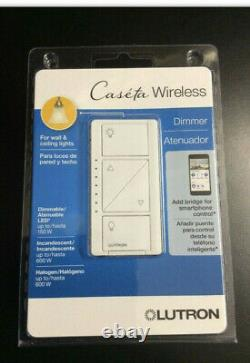 Lutron Caseta Wireless Pd-6wcl-wh-r Lighting Dimmer Switch White 5 Packs