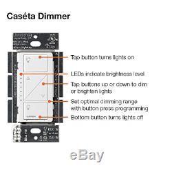 Lutron Caseta Wireless Smart Lighting - Kit De Départ De Commutateur De Variateur De Lumière Avec 2 Régulateurs