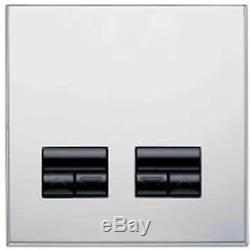 Lutron Éclairage Pour La Maison Rania Rndu-252b-fbc-m Gradateur 2g Commutateur Chrome Brillant
