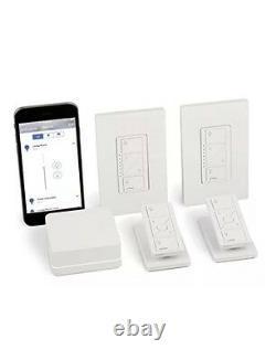 Lutron P-bdg-pkg2w Caseta Smart Wireless Lighting In-wall Dimmer Kit, Homekit
