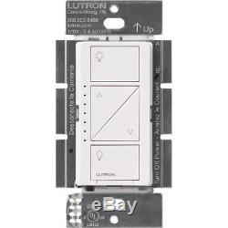 Lutron Pd-6wcl-wh Commutateur De Gradation D'éclairage Sans Fil Caseta (blanc, Lot De 4)
