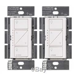 Lutron Pd-6wcl-wh Gradateur D'éclairage Intelligent Sans Fil Caseta (blanc, 2-pack)