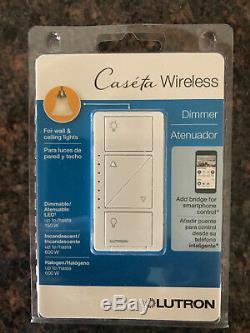 Lutron Pd-6wcl-wh Interrupteur Gradateur D'éclairage Intelligent Sans Fil Caseta, Blanc, Paquet De 4
