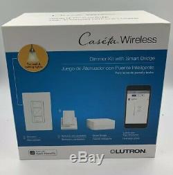 Lutron Wireless Lighting Kit De Démarrage Pour Variateur De Vitesse Intelligent (lot De 2) Nouveau