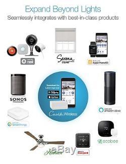 Lutron Wireless Lighting Kit De Départ De Commutateur De Gradateur Caseta Smart Pedestals Nouveau