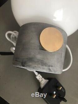 Menu Jwda Lampe Béton Laiton Gris Dimmer Interrupteur Brand New Uk Plug