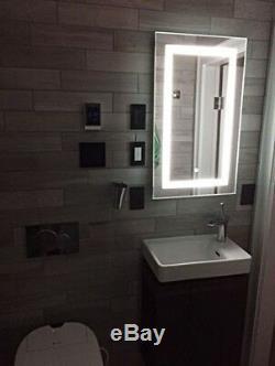 Miroir Anti-buée Éclairé Par Led Avec Capteur Tactile Variateur De Lumière Du Jour 24 X 36