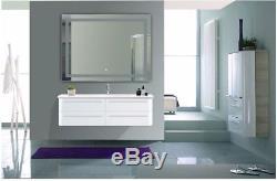 Miroir Antibuée Avec Capteur Led, Variateur De Lumière, Lumière Du Jour 48 X 36