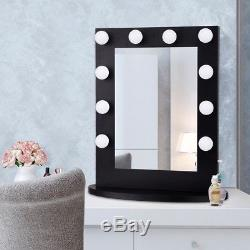 Miroir De Vanité De Maquillage De Maison Hollywood A Éclairé Le Miroir De Dessus De Table Avec Le Commutateur De Gradateur