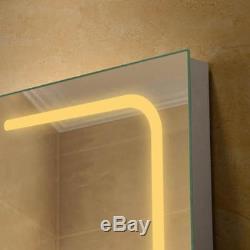 Miroir, Désembueur Et Gradateur Lumineux Pour Salle De Bain, 24 X 36 Led