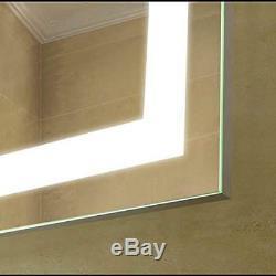 Miroir, Désembueur Et Gradateur Lumineux Pour Salle De Bain, 24 X 36 Led, Interrupteur Tactile Marche / Arrêt
