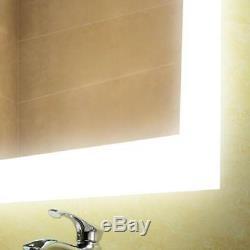 Miroir, Désembueur Et Gradateur Lumineux Pour Salle De Bains À Del De 24 Po X 36 Po À Del, Interrupteur Tactile Marche / Arrêt