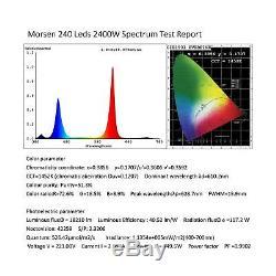 Morsen 2400w Led Élèvent La Lumière 2 Dimmer Sur Le Spectre Complet D'interrupteur Pour L'hydropon