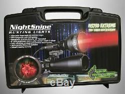 Nightsnipe Ns750 Extrême Lumière Led Rouge Réglable Chasse Faisceau