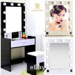 Nouveau Holywood Light Up Vanity Dressing Table Miroir De Maquillage Miroir Interrupteur