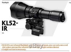 Odepro Kl52-ir Zoomable 1312ft Ir850nm Lumière Infrarouge Avec Gradateur À Distance