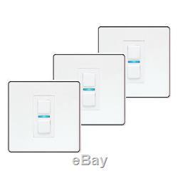 Pack De 3 Accessoires De Commutateur De Lumière À Gradateur Intelligent Lightwaverf, Blanc, 1 Voie