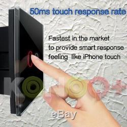 Panneau De Verre Konoq Tactile Led Intelligent Switchblack Télévariateur 1 Poste / 1way