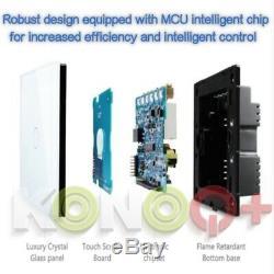 Panneau De Verre Konoq Tactile Led Intelligent Switchwhite Télévariateur 1 Poste / 1way