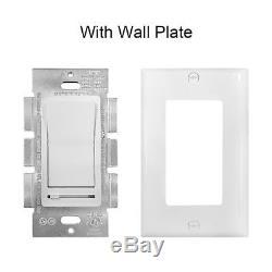 Siècle DEL 150 W et CFL//600w Incandescent Mur Lumière Variateur d/'intensité blanc Diapositive