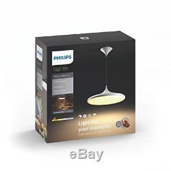 Philips 4076130p7 Hue Suspension Led Avec Variateur De Lumière, Toutes Les Nuances De Blanc, Via