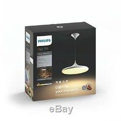 Philips 4076130p7 Suspension Led Avec Variateur De Lumière, Abat-jour Tout-blanc