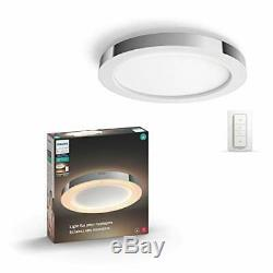 Philips Hue Blanc Ambiance Adore Intelligente Flushmount Light + Interrupteur Variateur Requi
