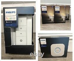 Philips Hue Éclairage Blanc Ambiance Smart Kit + Pont Gu10x6 + Gradateur