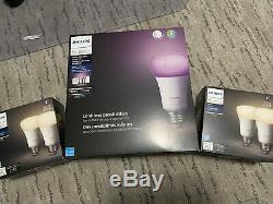Philips Hue Intelligent Lumière Kit 7 Ampoules (3 Couleurs + 4 Blanches) Avec Gradateur, Pont