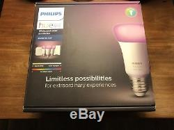 Philips Hue Smart Light Starter Kit (3 Lumières, Variateur De Lumière, Moyeu)