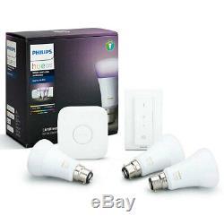 Philips Hue Wi-fi Starter Bridge / Variateur De Lumière Blanc / Couleur Ampoule Led B22