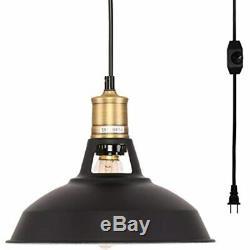 Plug-in Pendant Light Avec 16,4 Et Cordon On / Off Gradateur, Mise À Niveau
