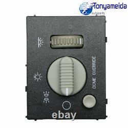 Pour Chevy Gmc 99-02 Sierra Silverado Yukon Headlight & Dome Light Dimmer Switch